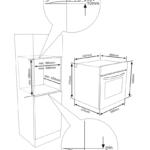 Piekarnik Kluge KTE1020B - Rysunek techniczny